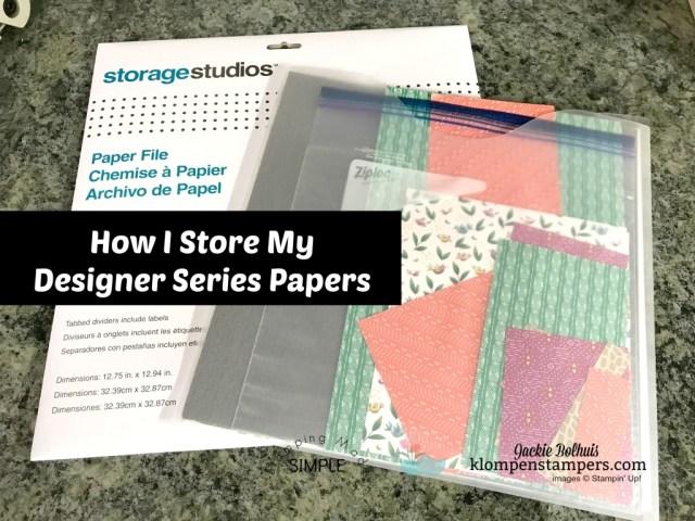 Easy designer paper and scrapbook storage solution