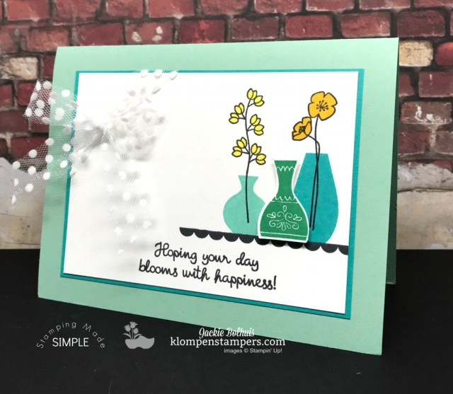 Varied Vases Stamp Set With New Colors & New Ribbon