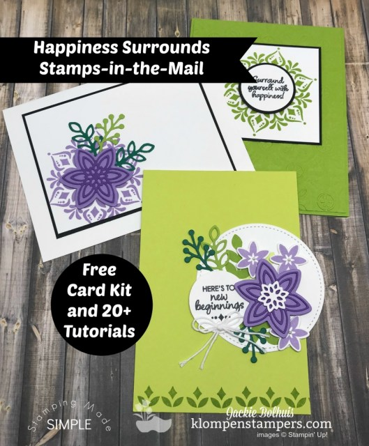 Emboss with dies? Card Making Kits? Yep! Learn how with this video tutorial by Jackie Bolhuis and while you're at it come browse the many cardmaking ideas and video tutorials. Look for Klompen Stampers on the web, YouTube, and Pinterest. Tons of ideas for your next greeting cards or scrapbook pages. #cardmaking #greetingcards #stampinup #cardmakingtips #jackiebolhuis #klompenstampers