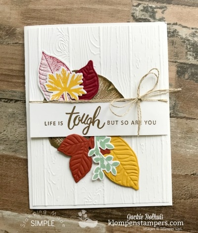 Die Cut & Embossing Mat Tips: Rooted in Nature