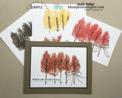 Easiest Stamped Watercolored Trees | Winter Woods