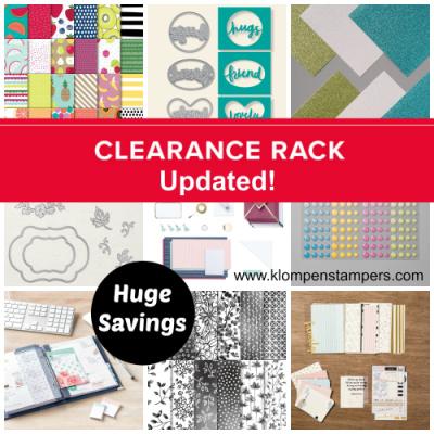 Huge Savings in the Clearance Rack