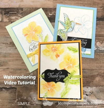 3 Stunning Watercolor Greeting Cards