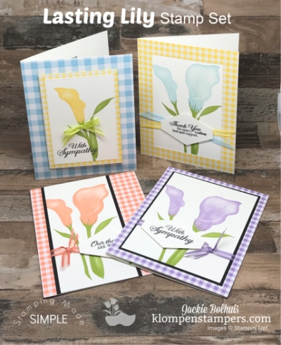 Easy Stamping Tips with 5 Lasting Lily Cards