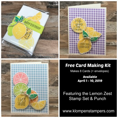 Hurry! High Demand for this Lemon Zest Card Kit {Free with Order}