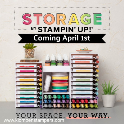 Storage by Stampin' Up! Starting April 1- Shop Jackie Bolhuis Store Online!