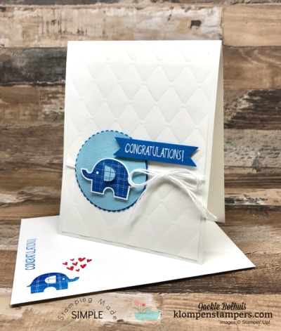 Adorable Baby Card You Can Learn To Make Quickly