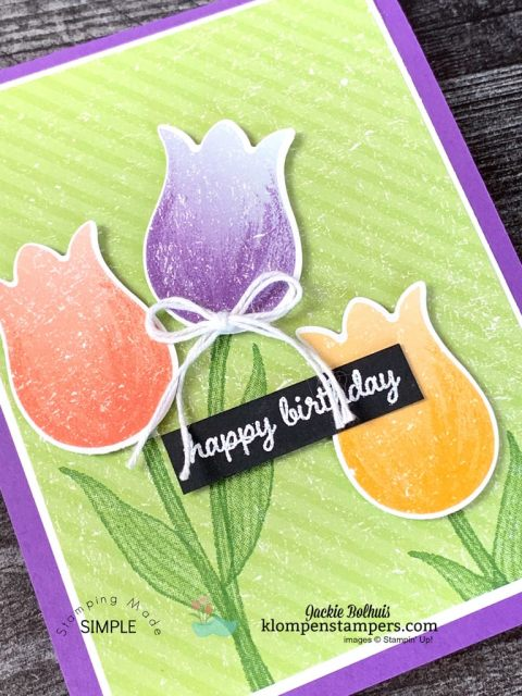 Make-Vibrant-Quick-Cards-Handmade-Birthday-Card-with-Tulips-Paper-Punched
