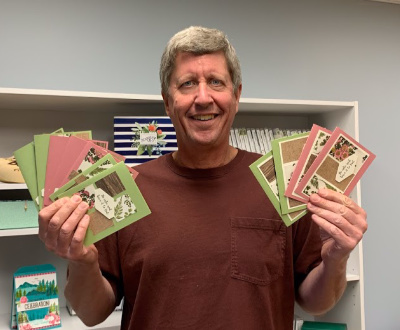 Stamp Along with Dave and Make 11 Easy Greeting Cards