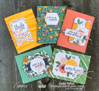 How to Make 15 Greeting Cards With the Simply Citrus Card Kit