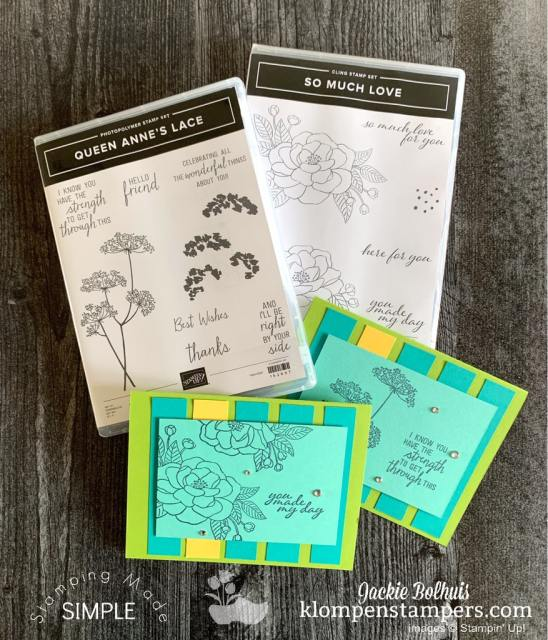 Get 2 stamp sets for free when you join Stampin' Up! Klompen Stampers team.