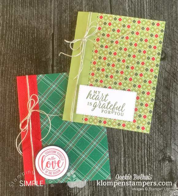 How to make easy cards for Christmas, as a thank you, thinking of you, birthday and more!