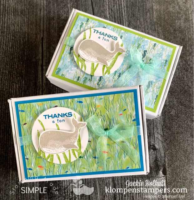 Package your DIY gift giving note cards in cute box.