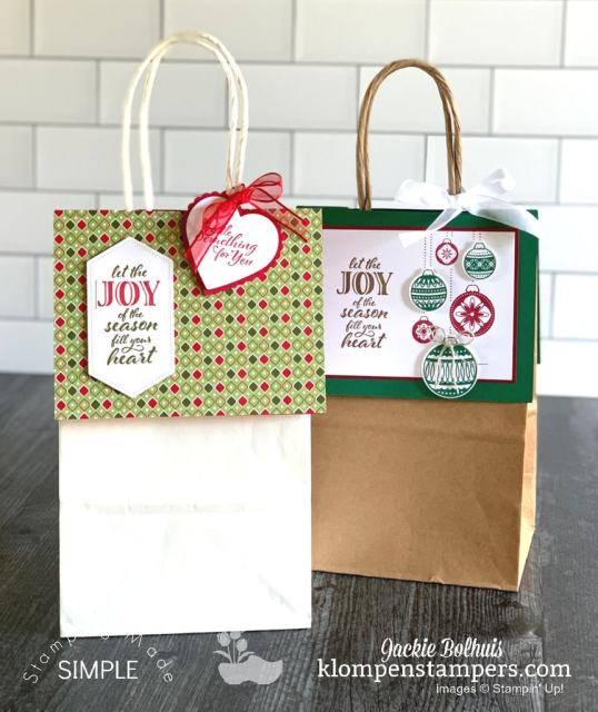 No peek gift bags are easy to make for Christmas gifts.