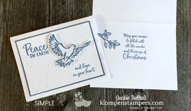 Monochromatic Christmas cards that use minimal card making supplies but turn out beautiful.