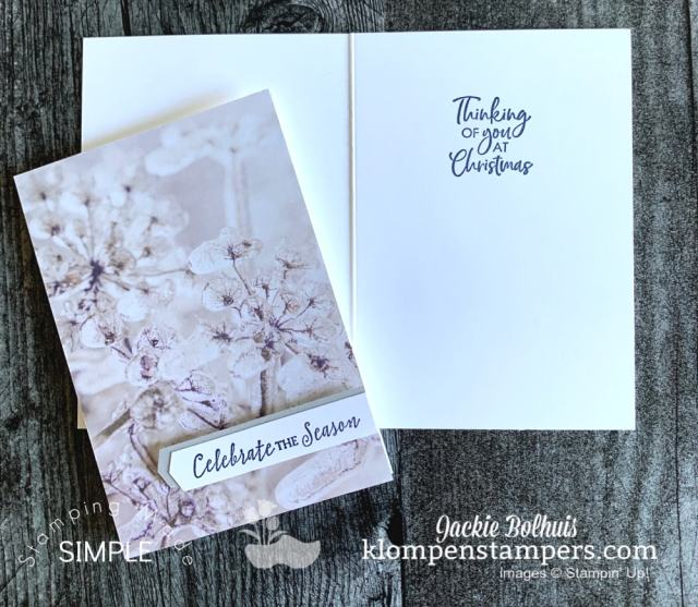 Celebrate the season and make some creative note cards with designer paper from Stampin' Up!