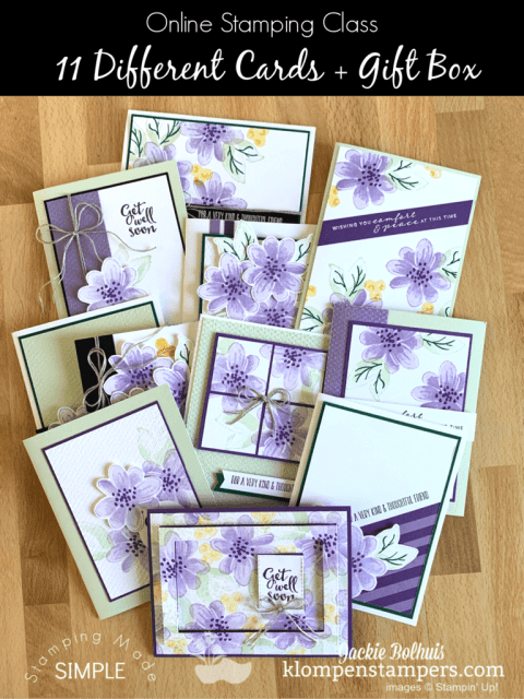 Make 11 unique cards for all occasions and package them in a gift box for a lovely DIY gift idea.