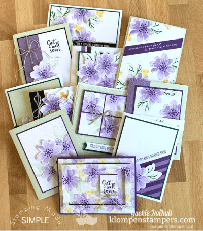Make 11 Unique Cards & a Gift Box – New Online Stamping Class