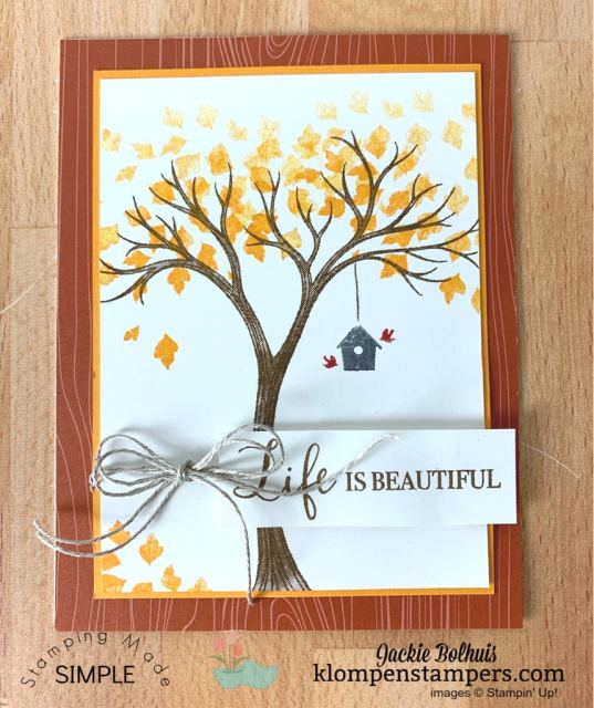 Make easy fall cards with Life is Beautiful stamp set by Stampin' Up!