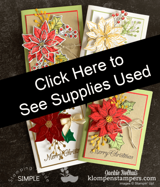 Click here to order supplies to make these cards