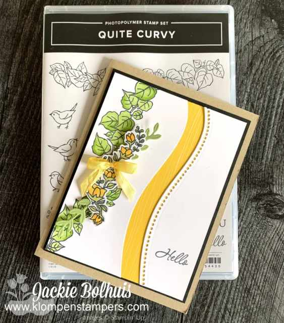 I love creating handmade cards with the Stampin' Up! Quite Curvy bundle.