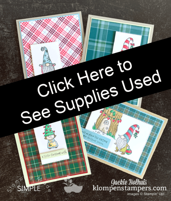 Click here for supplies used on these 4 DIY Christmas cards.