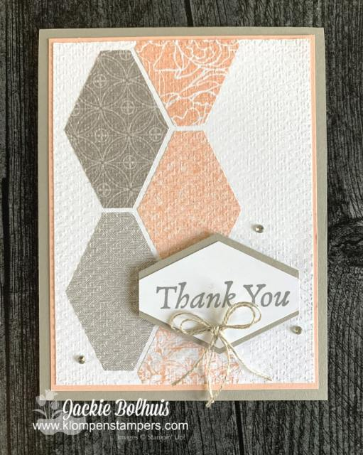 Use your paper punch shapes in a different direction for a unique and simple card.