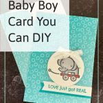 Baby Boy Card You Can DIY