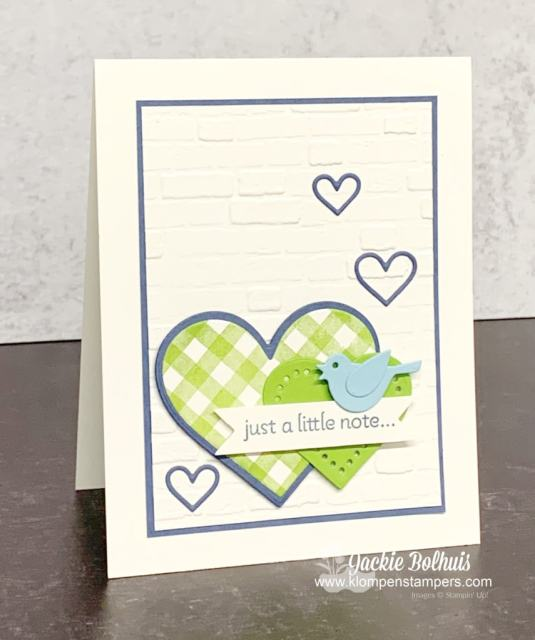 This cute greeting card says 'just a note' and would be perfect as a teacher gift.
