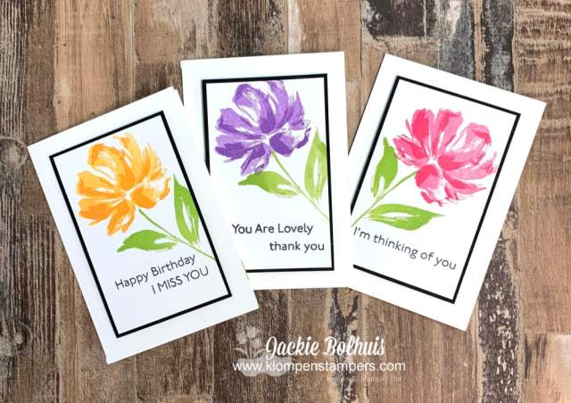 I love teaching the SIP Card Method; stamps, ink & paper and you can make some beautiful handmade cards.