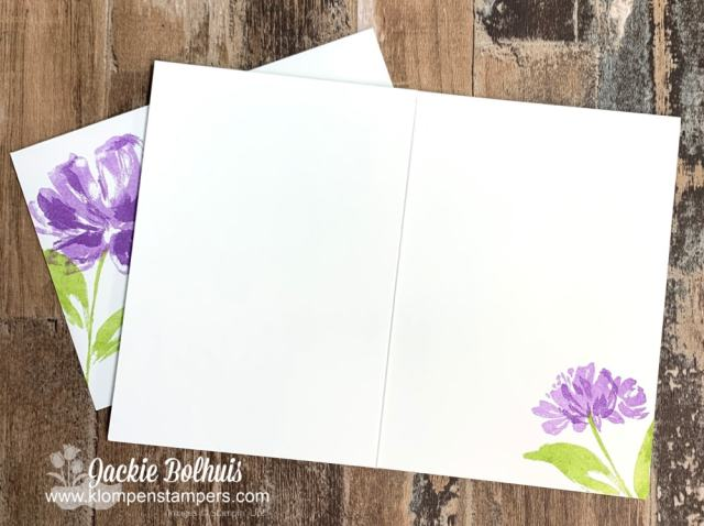 The SIP card method is so quick that you have plenty of time to decorate the inside of your card.