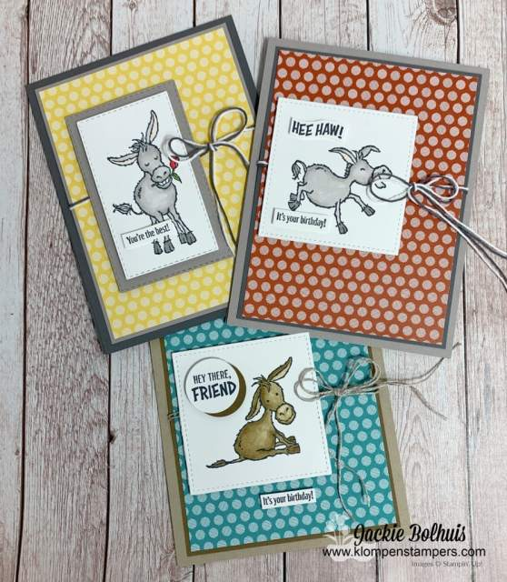 Stampin blends make these darling Donkey's come to life!