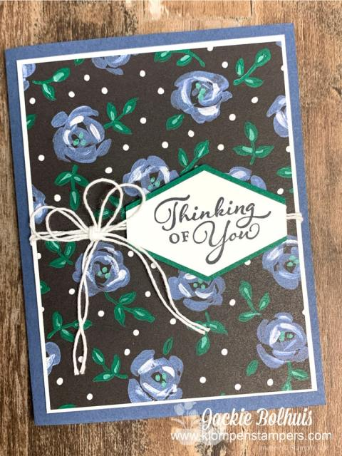 One awesome handmade card to say 'Thinking of You'