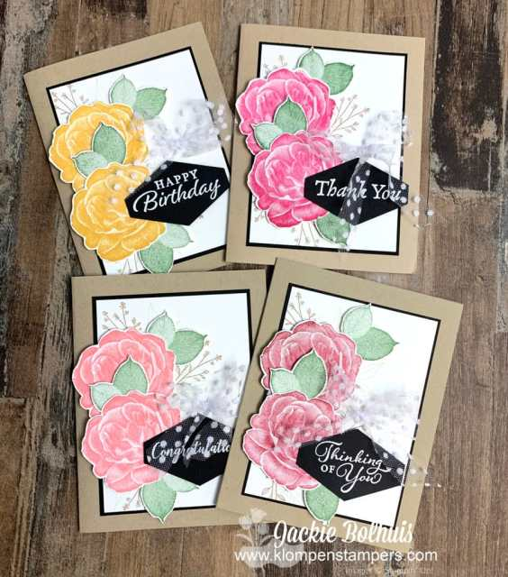 Learn this card making method to save time. Stamp, punch, cut and assemble in a batch process.