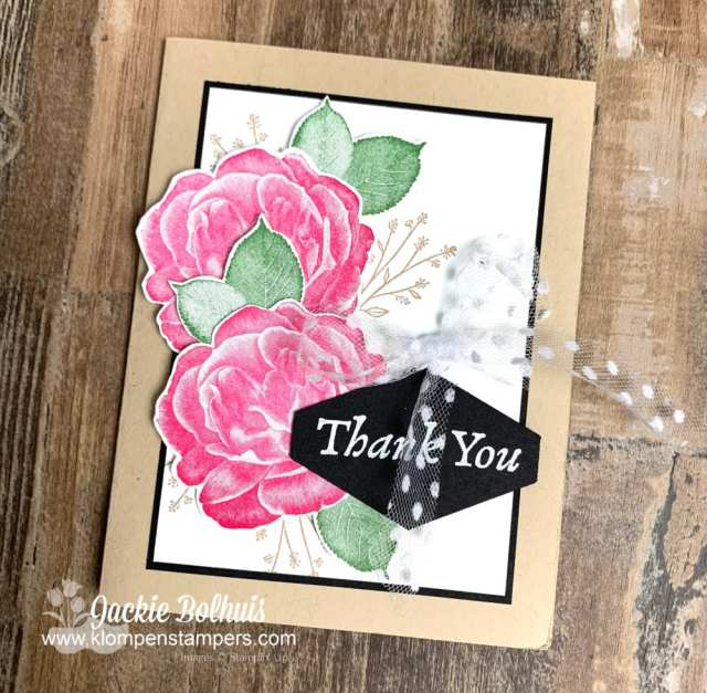 This step of the card making method was cutting the roses out with scissors.