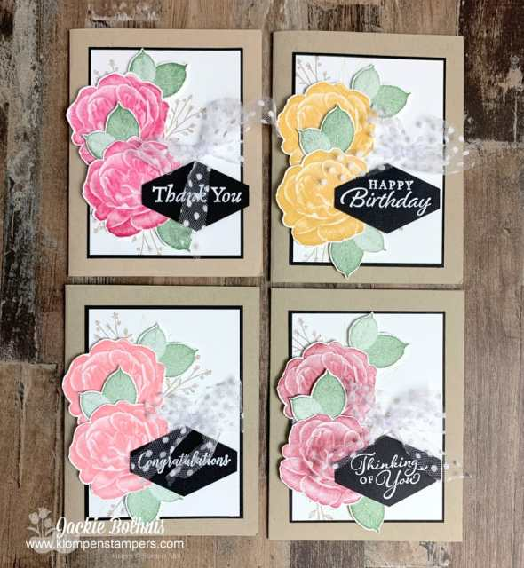 I love how this card making method yielded me a variety of handmade cards for all occasions.