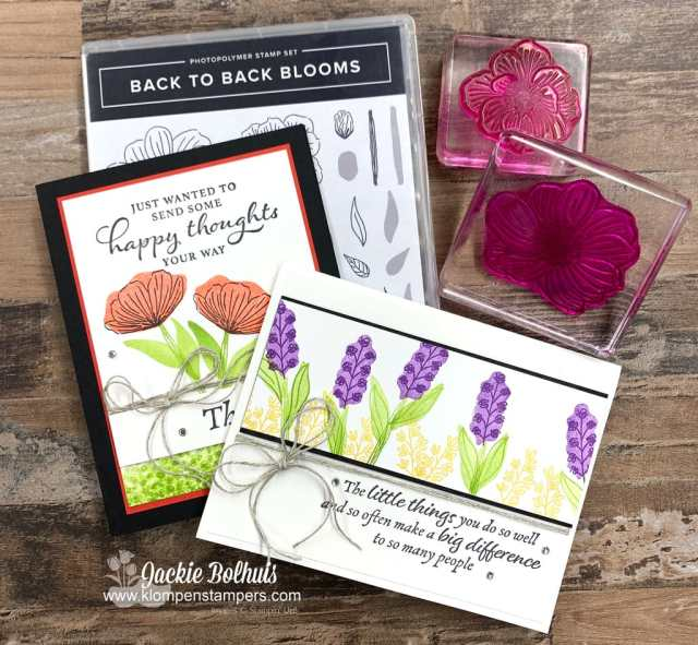 More greeting cards with Stampin' Up! Back to Back Blooms stamp set.