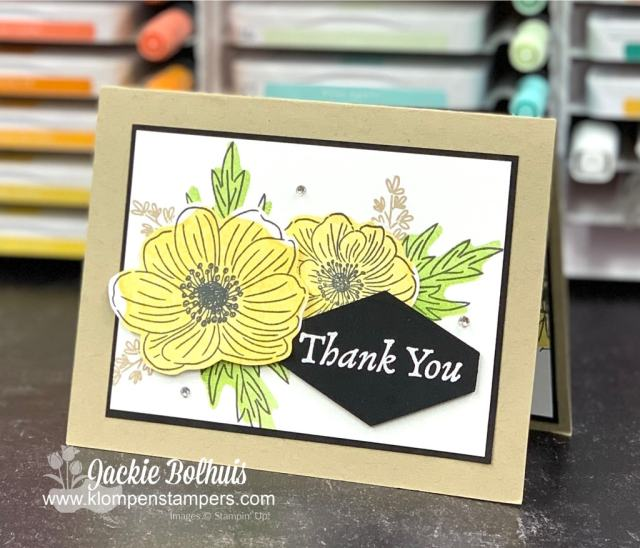 I used my new reversible stamps to make this DIY Thank You card.