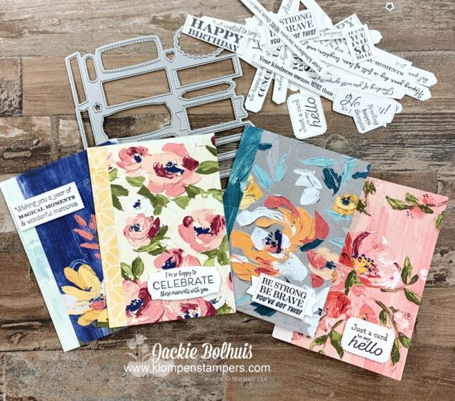 How to make simple cards with the Stampin' Up! Many Messages bundle.