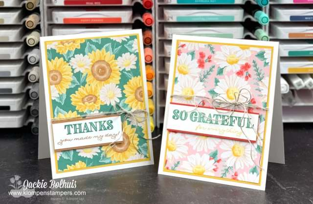 Need a simple thank you card idea? Use your beautiful designer paper and 'Ornate Thanks' greeting.