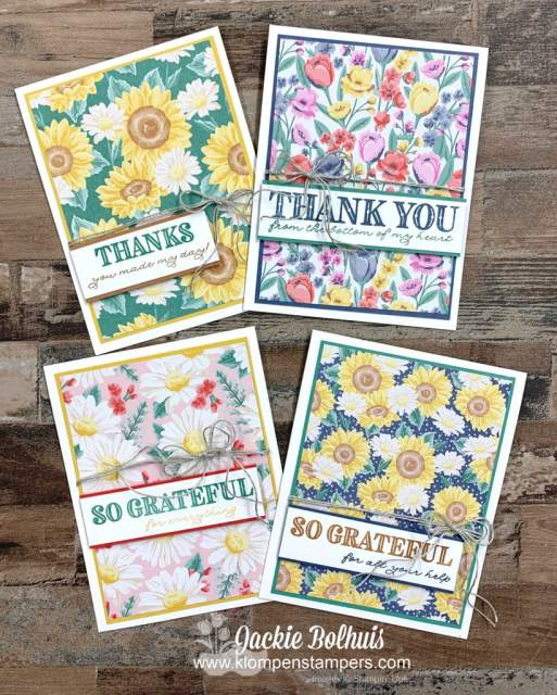 Ornate thanks by Stampin' Up! makes card making quick and easy.