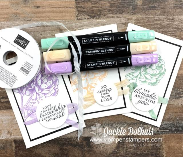 Classic handmade cards are easy to make with a monochromatic theme.