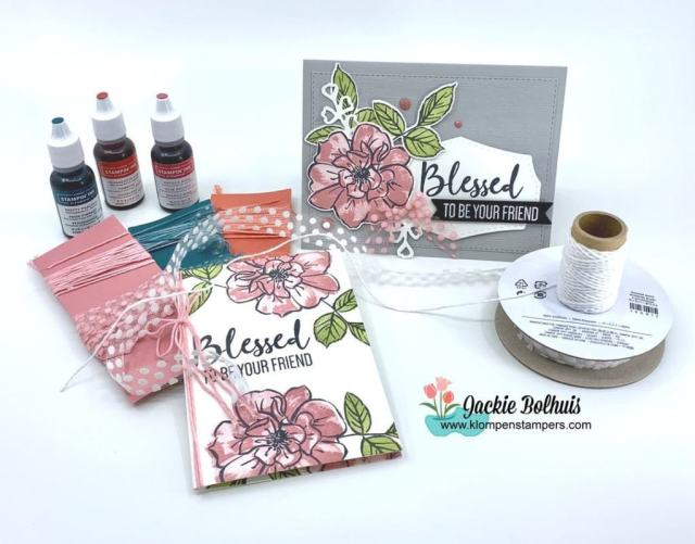I love all these greeting card ideas with the To a Wild Rose stamp set.