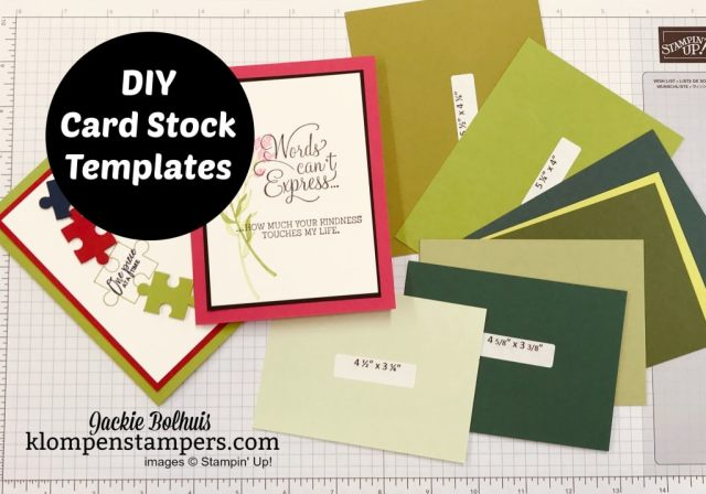 Cutting cardstock for layering and card bases is so easy with this template tutorial.