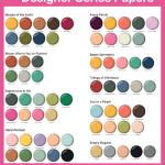 Stampin' Up! Designer Paper Color Chart | Free Download