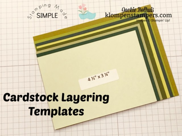 Cutting your own layering templates will save you time in the future when you make cards.