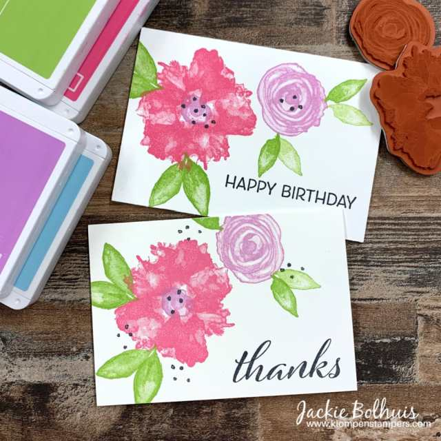 Need a quick birthday card? Try these simple stamped cards design.