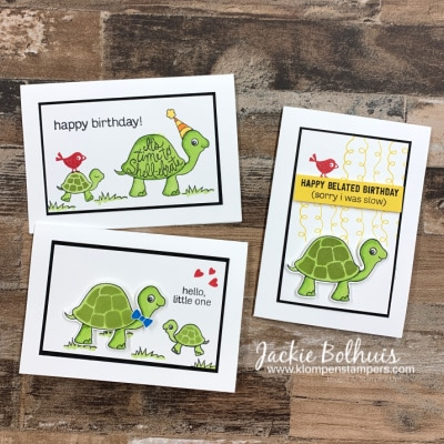 Do You Know How To Make Easy Kids Greeting Cards? Stampin' Up! Turtle Friends