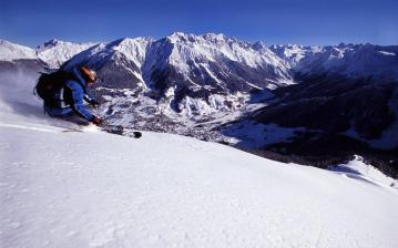 Skiing in the Klosters powder