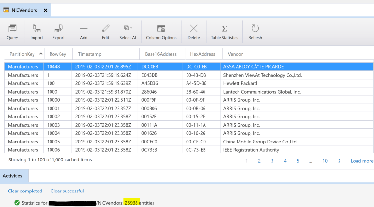 Azure Table Storage Rows Inserted.PNG